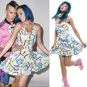Jeremy Scott x Adidas Alphabet Letter Skater Dress